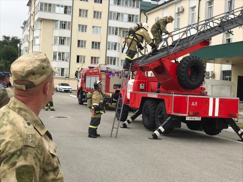 В региональном управлении Росгвардии прошли совместные пожарно-тактические учения.