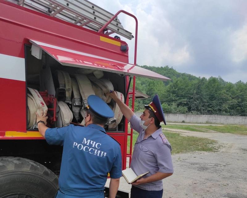 Проверена деятельность ведомственной пожарной охраны
